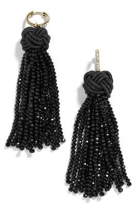 BaubleBar Tassel Drop Huggie Earrings