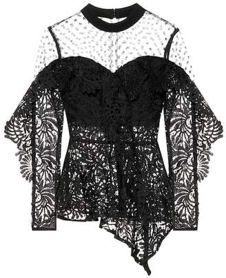 Self-Portrait Lace handkerchief top