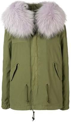 Mr & Mrs Italy fur-trimmed hood parka