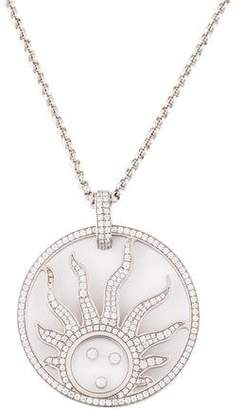 Chopard 18K Diamond Happy Sun Pendant Necklace