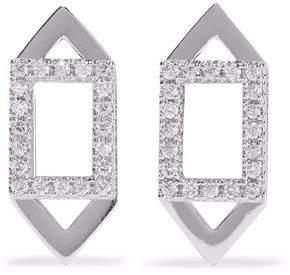 Astrid & Miyu Fitzgerald Rhodium-Plated Crystal Earrings