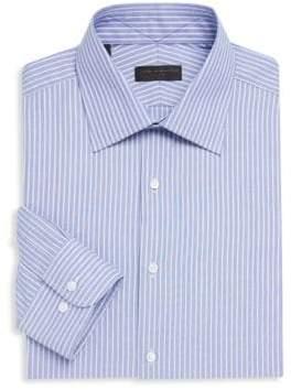 Cotton Dobby Stripe Dress Shirt