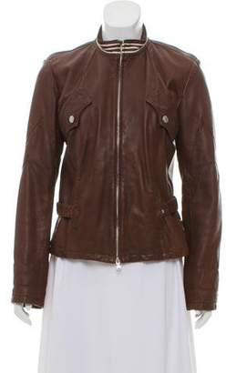 Jean Paul Gaultier Leather Zip-Up Jacket