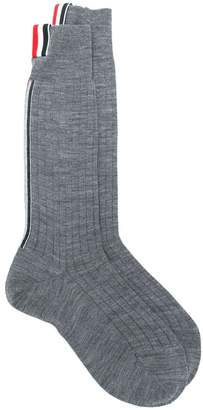 Thom Browne ribbed mid-calf socks