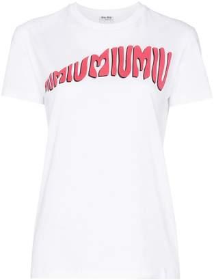 Miu Miu (ミュウミュウ) - Miu Miu ロゴ Tシャツ