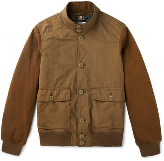 Aspesi Suede-Panelled Shell Jacket