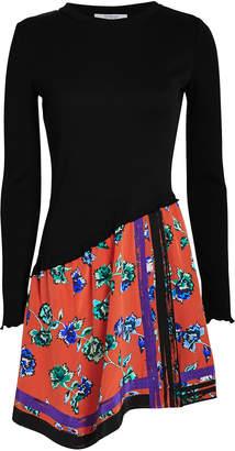 Derek Lam 10 Crosby Scarf Hem Long Sleeve Dress
