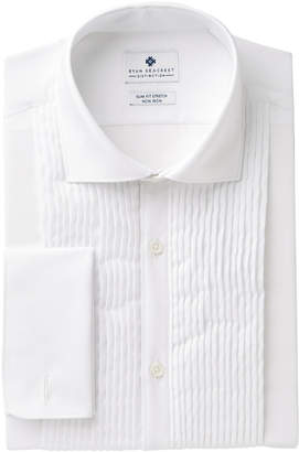 Ryan Seacrest Distinction Men's Slim-Fit Stretch Non-Iron White French Cuff Tuxedo Dress Shirt