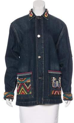 Valentino Embroidered Denim Jacket w/ Tags