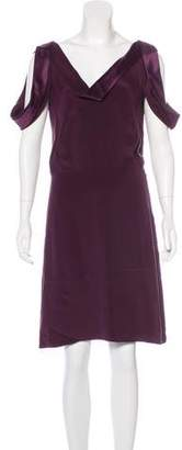 Gucci Silk Cold-Shoulder Dress