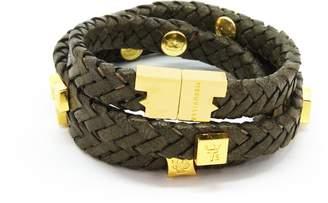 Brio Tissuville Bracelet Olive Gold
