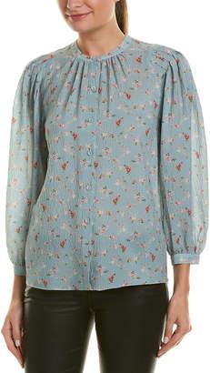 Rebecca Taylor Serra Floral Silk-Blend Top