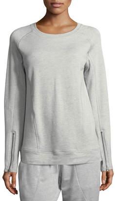 Vimmia Crewneck Zip-Sleeve Pullover Sweatshirt