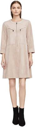 BCBGMAXAZRIA Aimy Faux-Suede A-Line Dress