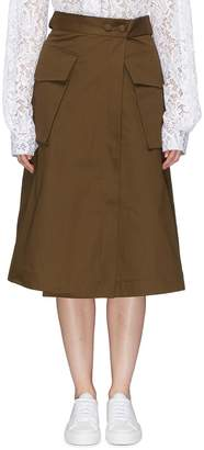 J.Cricket Belted oversized pocket cotton drill wrap skirt