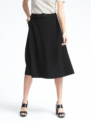 Utility Twill Midi Skirt $118 thestylecure.com