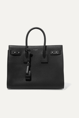 Saint Laurent Sac De Jour Textured-leather Tote - Black