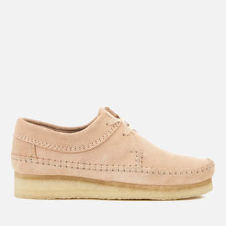 Clarks Women's Weaver Suede Shoes - Light Pink