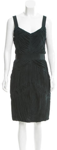 Burberry Burberry Pleated Cocktail Dress