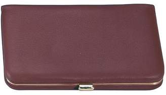 Royce Leather Slim Framed Business Card Case Wallet in Genuine Leather