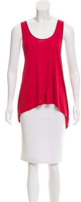 Gryphon Sleeveless Braid-Accented Top