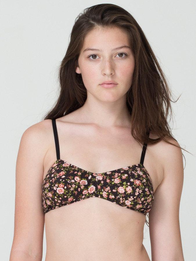 American Apparel California Select Original Ditsy Floral Bra Top