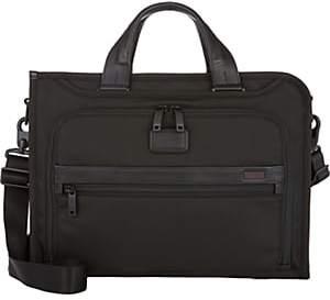 Tumi Men's Alpha II Slim Deluxe Briefcase-Black
