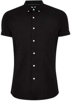 Topman Muscle Fit Short Sleeve Sport Shirt