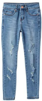 MADDIE Distressed Mid-Rise Jeans (Big Girls)