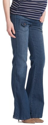 Women's Lilac Clothing Flare Maternity Stretch Jeans $100.80 thestylecure.com