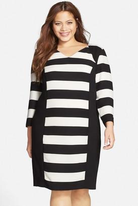 CARMAKOMA Auburn Stripe Colorblock Dress