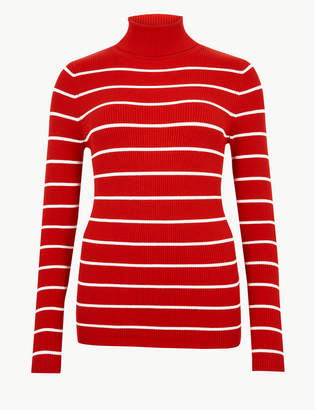 Marks and Spencer Striped Roll Neck Jumper