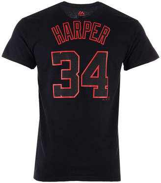 Majestic Men's Bryce Harper Washington Nationals Pitch Black Player T-Shirt