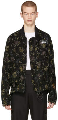 Off-White Black Tapestry Bomber Jacket