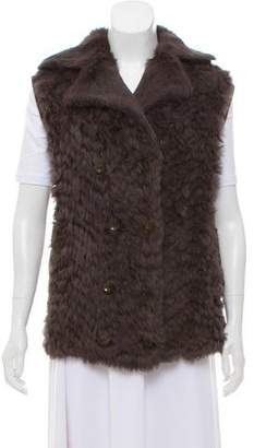 Marc by Marc Jacobs Fur Notch-Lapel Vest
