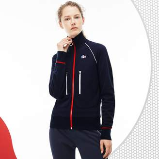 Lacoste Women's French Sporting Spirit Edition Zippered Fleece Sweatshirt