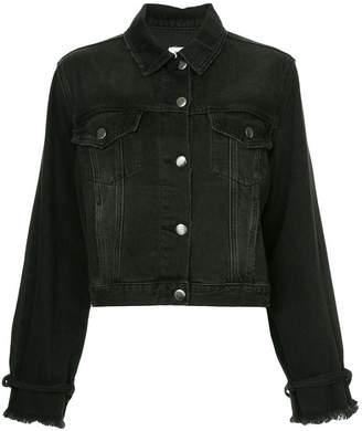 Frame tie sleeve denim jacket