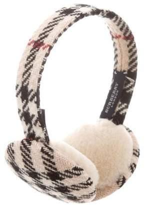 Burberry Wool Nova Check Earmuffs
