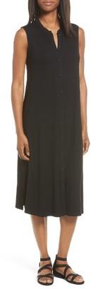 Women's Eileen Fisher Jersey Mandarin Collar Duster Dress $198 thestylecure.com