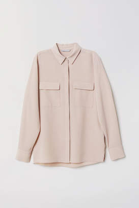 H&M Creped Utility Blouse - Pink
