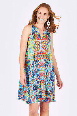 Lula NEW Life Womens Short Dresses Mosaic Dress Print - Dresses