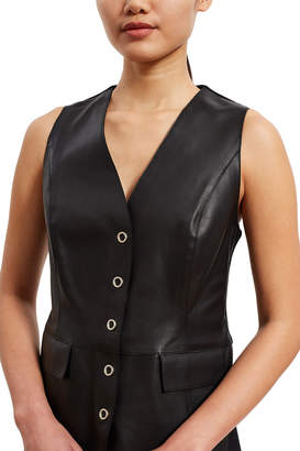 Opening Ceremony Leather Combo Vest