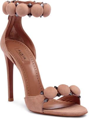 Alaia Beige suede bomb sandals