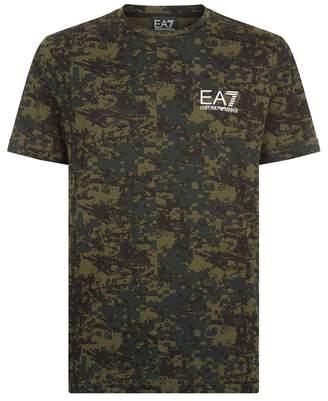 Giorgio Armani Ea7 Camouflage Logo T-Shirt