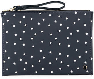 Neiman Marcus Printed Wristlet Pouch Clutch Bag - Stars