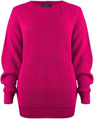 at Amazon Canada · OgLuxe Ladies Womens New Chunky Cable Knitted Jumper Top  Winter (Small Medium 3beaab05d