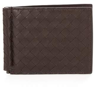 Bottega Veneta Intrecciato Leather Hinge Wallet - Mens - Brown