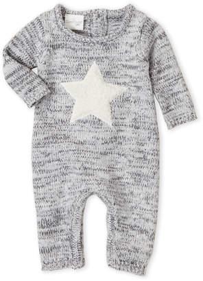 Cuddl Duds Newborn) Marled Star Romper