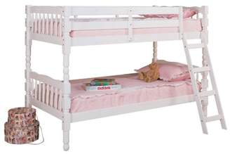 ACME Furniture ACME Homestead Twin over Twin Convertible Bunk Bed in White, Multiple Colors