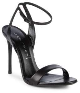 Casadei Minorca Ankle-Strap Leather Sandals
